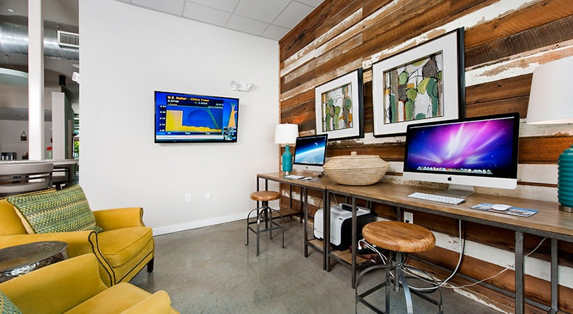 Business Center with iMac Computers