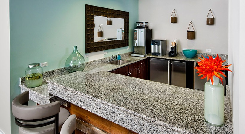 Contemporary Clubhouse Kitchen