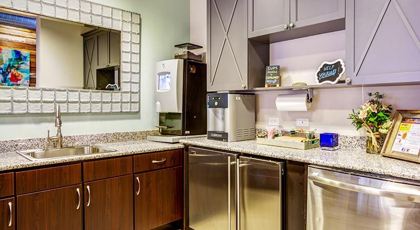 Contemporary Clubroom Kitchen